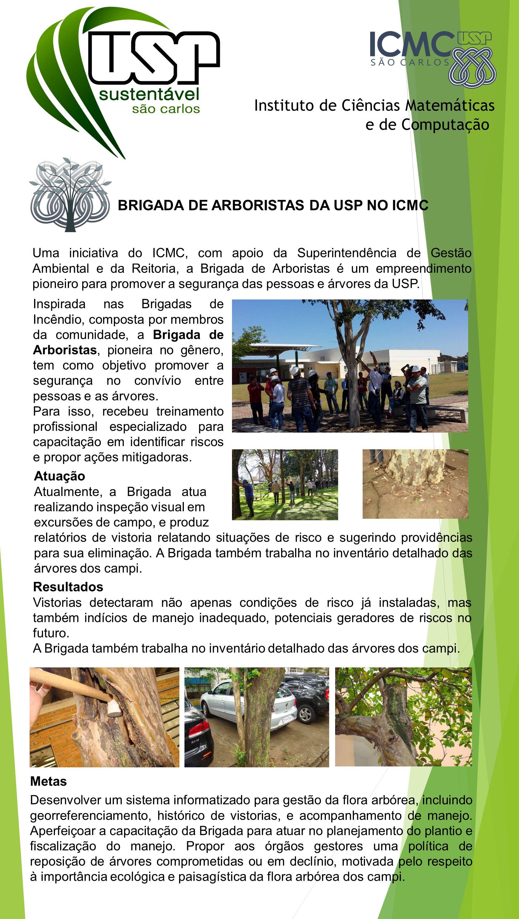 BRIGADA DE ARBORISTAS DA USP NO ICMC