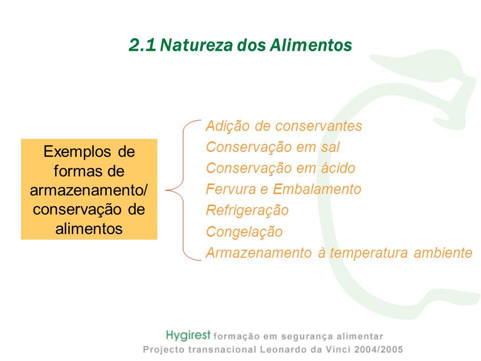 2.1 Natureza dos Alimentos