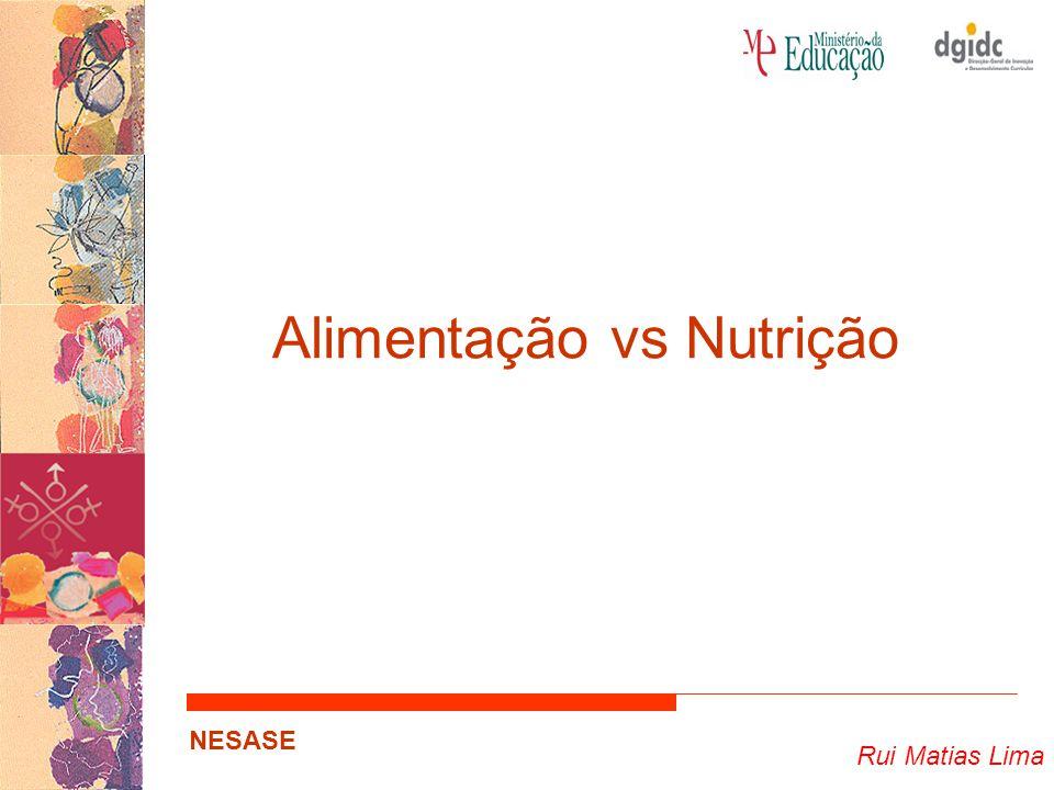 Alimentação vs Nutrição