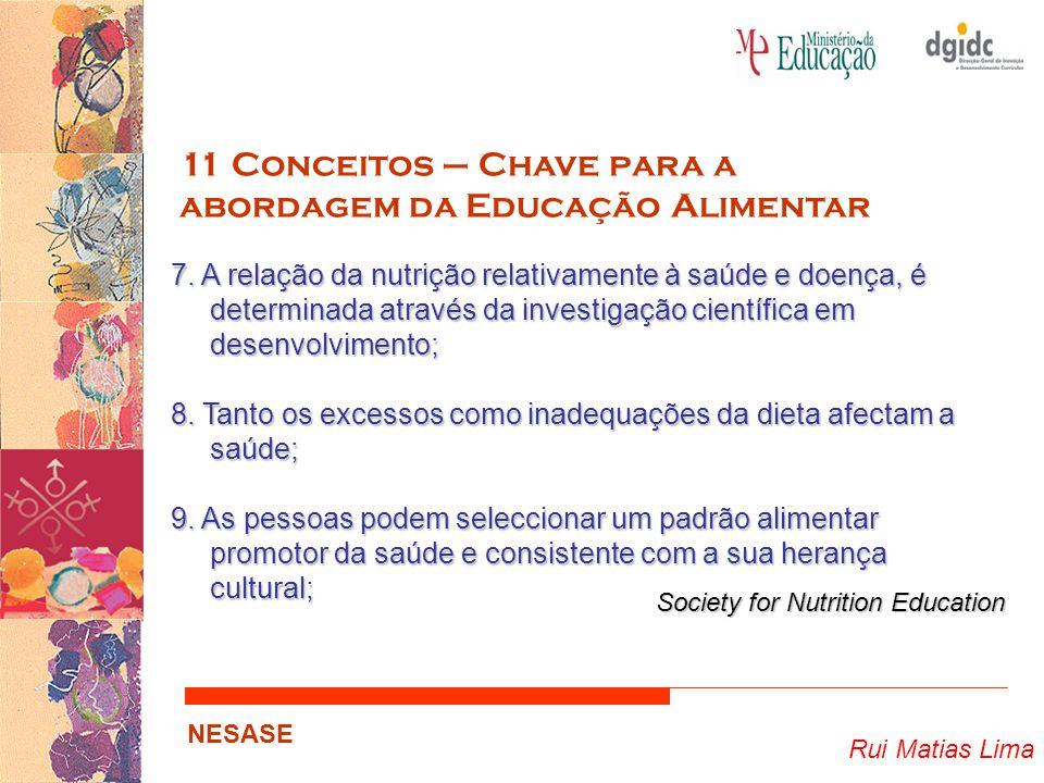 11 Conceitos – Chave para a abordagem da Educação Alimentar