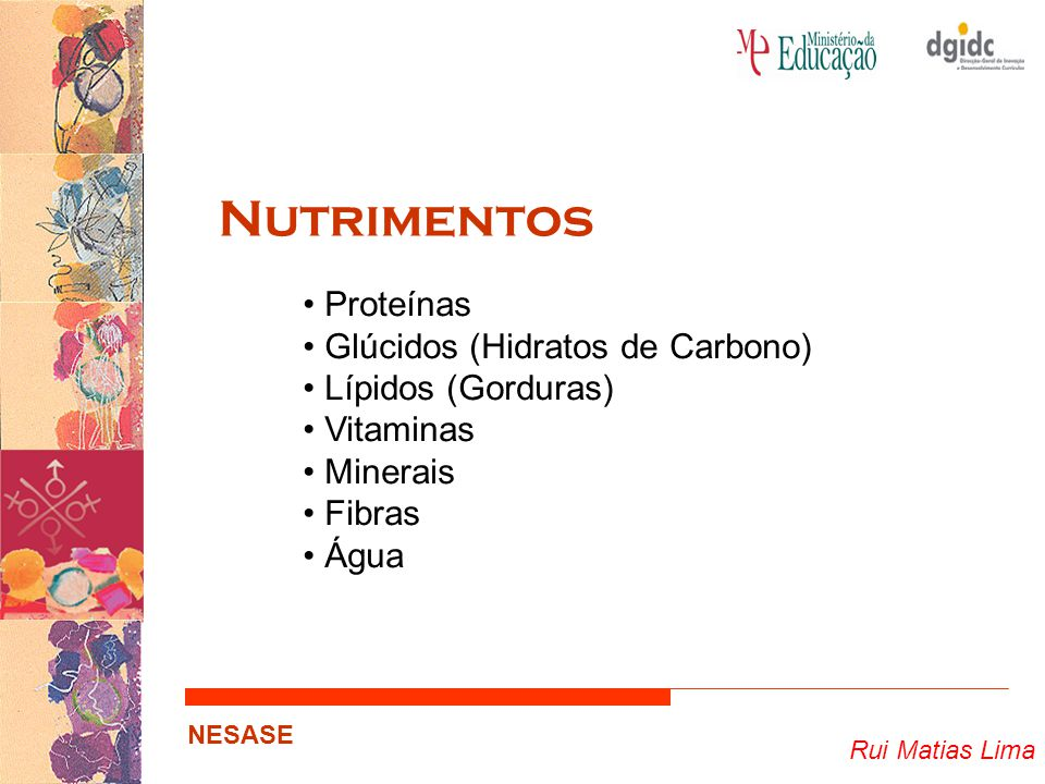 Nutrimentos Proteínas Glúcidos (Hidratos de Carbono)