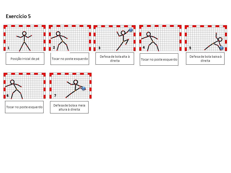 Exercício 5 1 2 3 4 5 6 7 Posição Inicial de pé