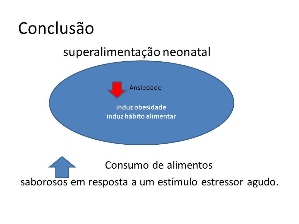 Conclusão superalimentação neonatal Consumo de alimentos