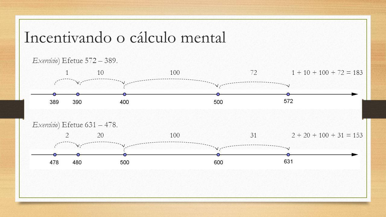 Incentivando o cálculo mental