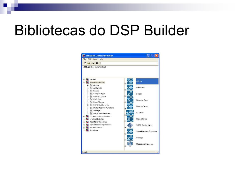 Bibliotecas do DSP Builder
