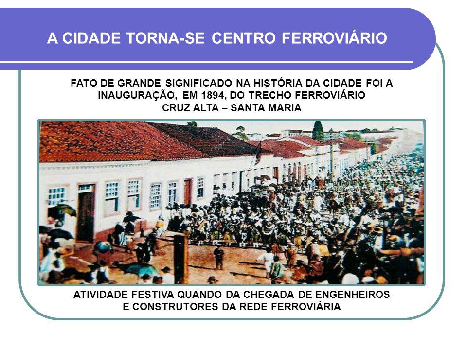 A CIDADE TORNA-SE CENTRO FERROVIÁRIO