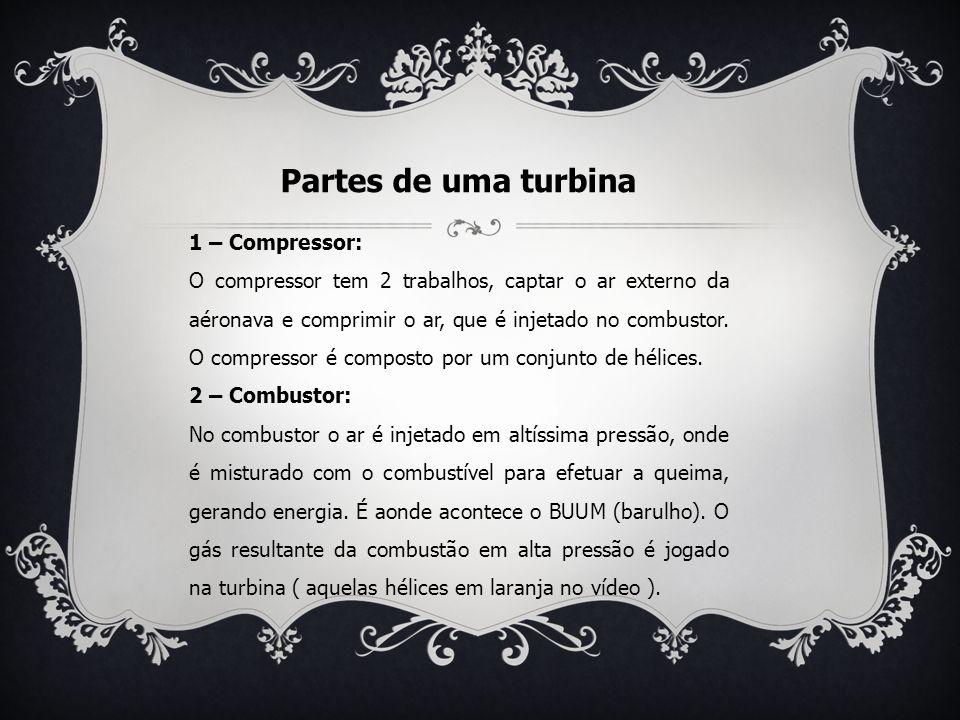Partes de uma turbina 1 – Compressor: