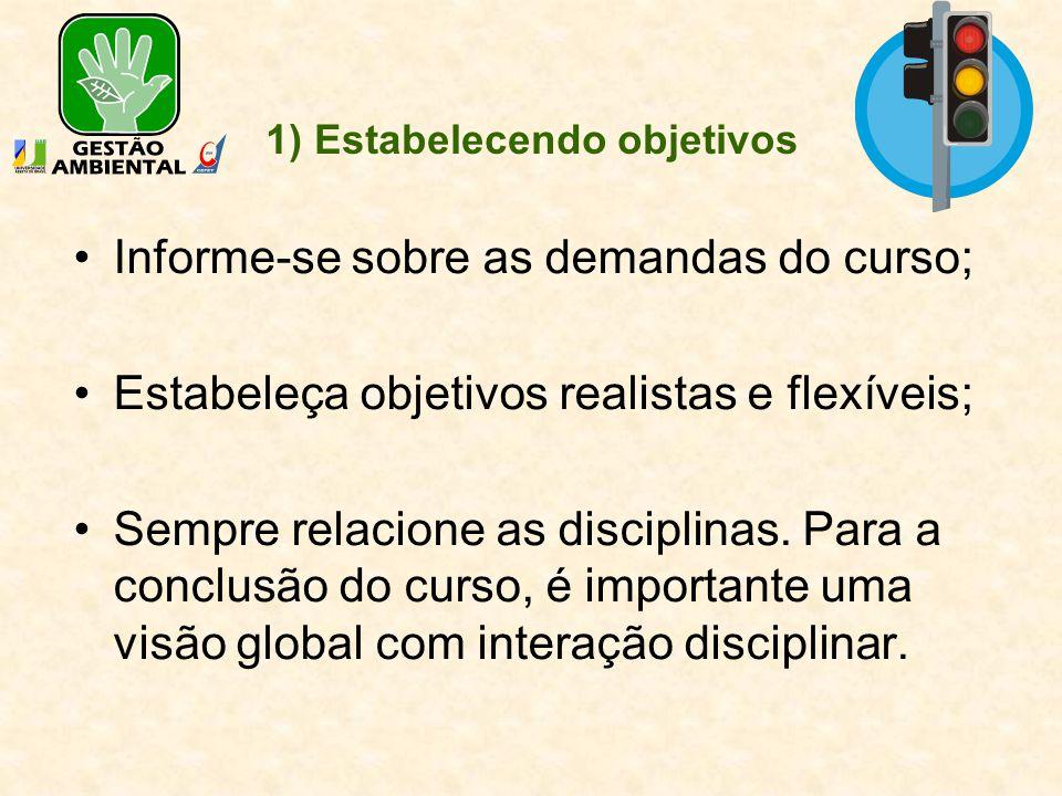 1) Estabelecendo objetivos
