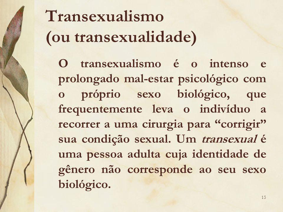 Transexualismo (ou transexualidade)