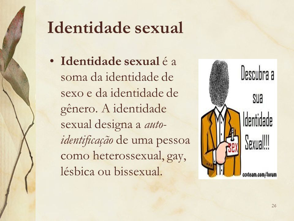 Identidade sexual