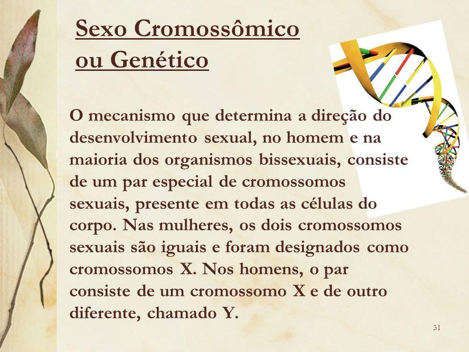Sexo Cromossômico ou Genético
