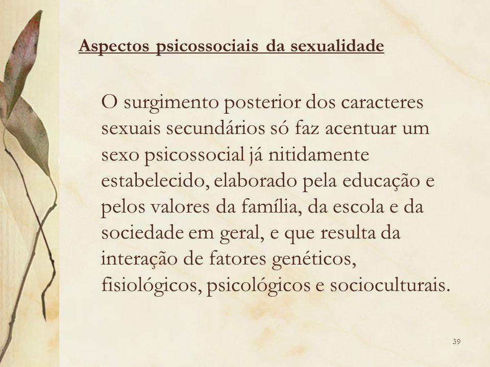 Aspectos psicossociais da sexualidade