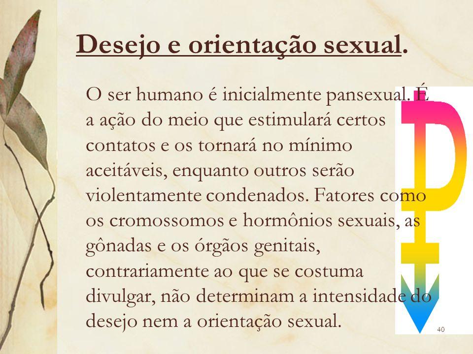 Desejo e orientação sexual.