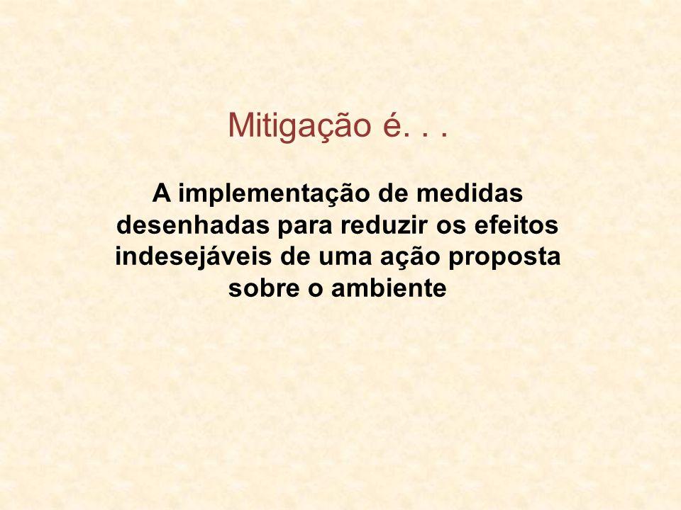 Mitigação é. . . A implementação de medidas