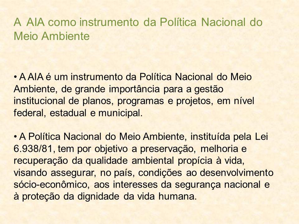 A AIA como instrumento da Política Nacional do Meio Ambiente