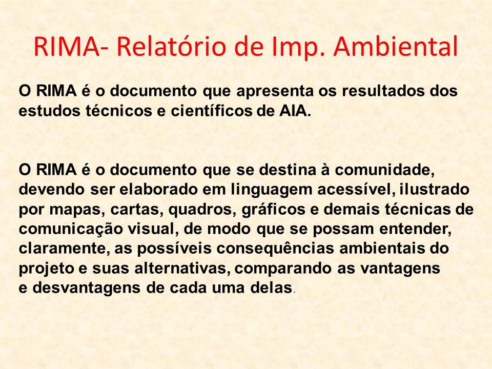 RIMA- Relatório de Imp. Ambiental