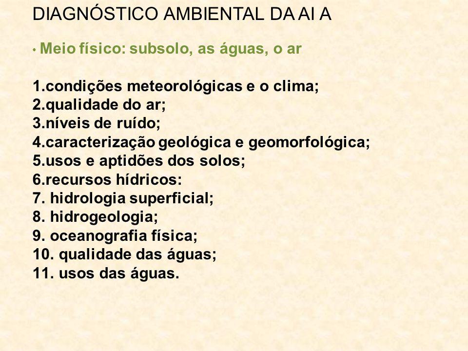 DIAGNÓSTICO AMBIENTAL DA AI A