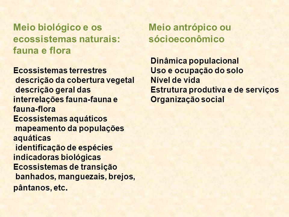 Meio biológico e os ecossistemas naturais: fauna e flora