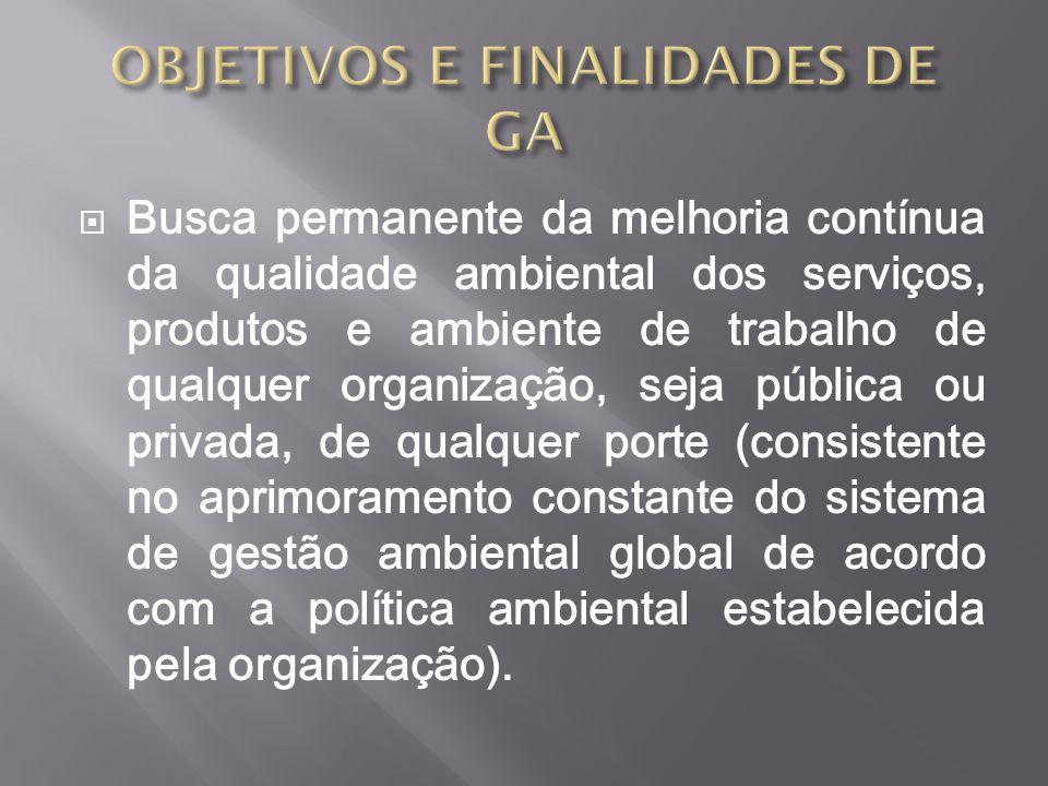 OBJETIVOS E FINALIDADES DE GA