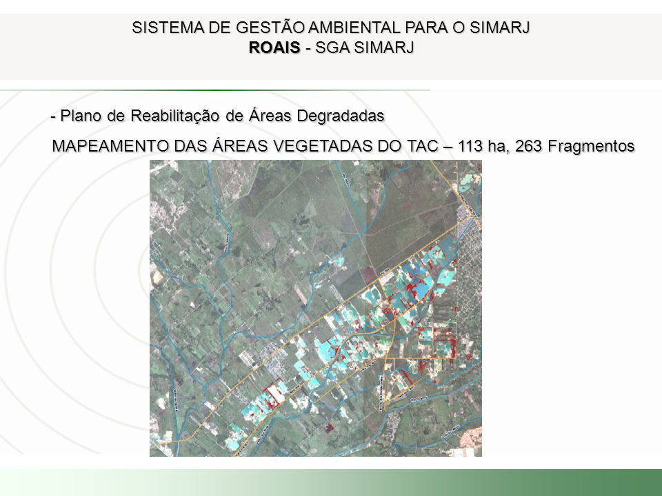 SISTEMA DE GESTÃO AMBIENTAL PARA O SIMARJ ROAIS - SGA SIMARJ