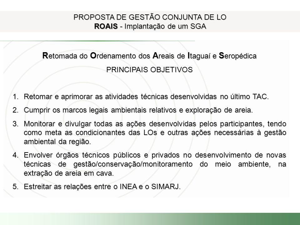 Retomada do Ordenamento dos Areais de Itaguaí e Seropédica