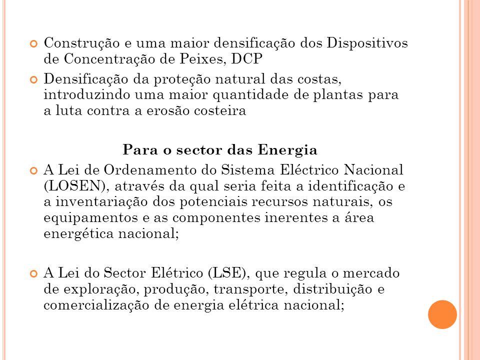 Para o sector das Energia