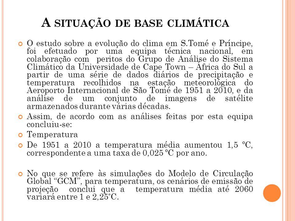 A situação de base climática