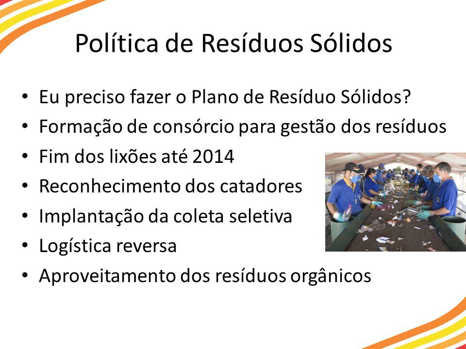 Política de Resíduos Sólidos