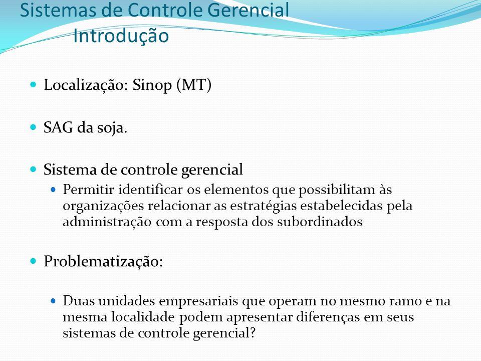 Sistemas de Controle Gerencial Introdução