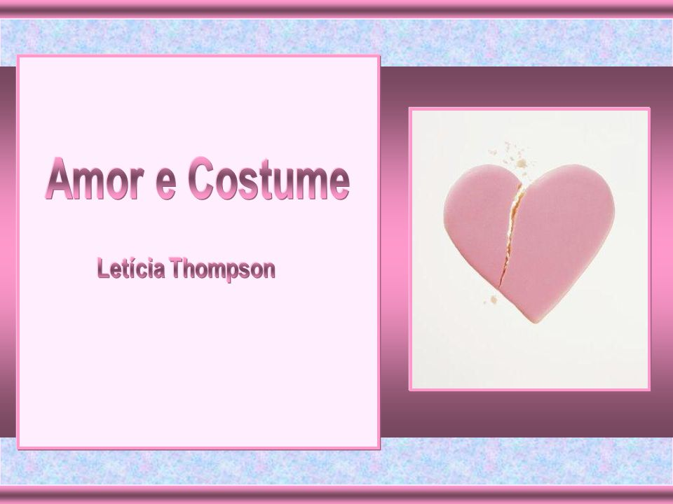 Amor e Costume Letícia Thompson