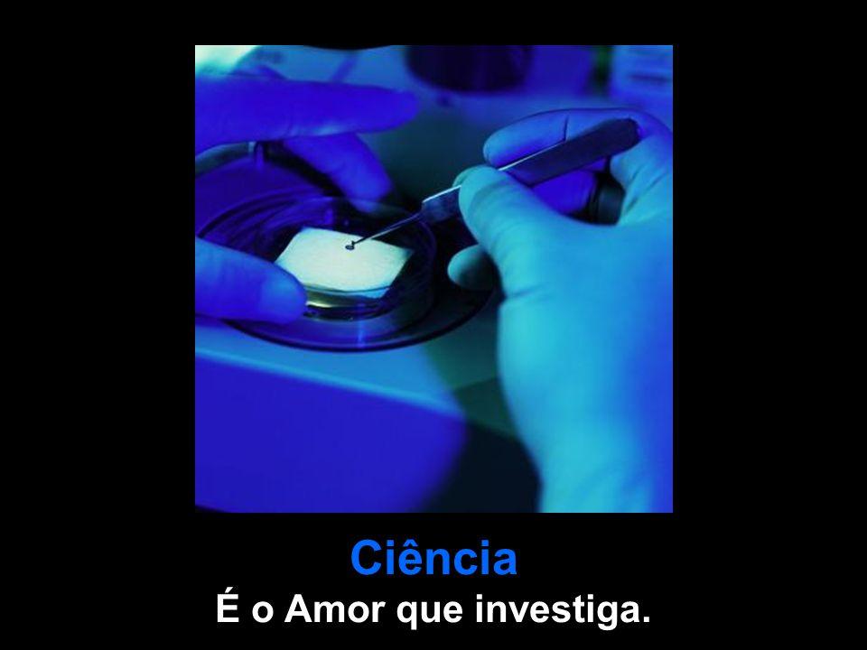 Ciência É o Amor que investiga.