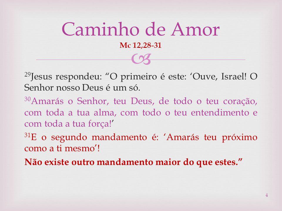 Caminho de Amor Mc 12,28-31