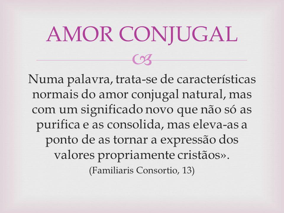 (Familiaris Consortio, 13)