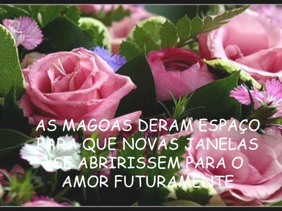 AS MAGOAS DERAM ESPAÇO PARA QUE NOVAS JANELAS SE ABRIRISSEM PARA O AMOR FUTURAMENTE