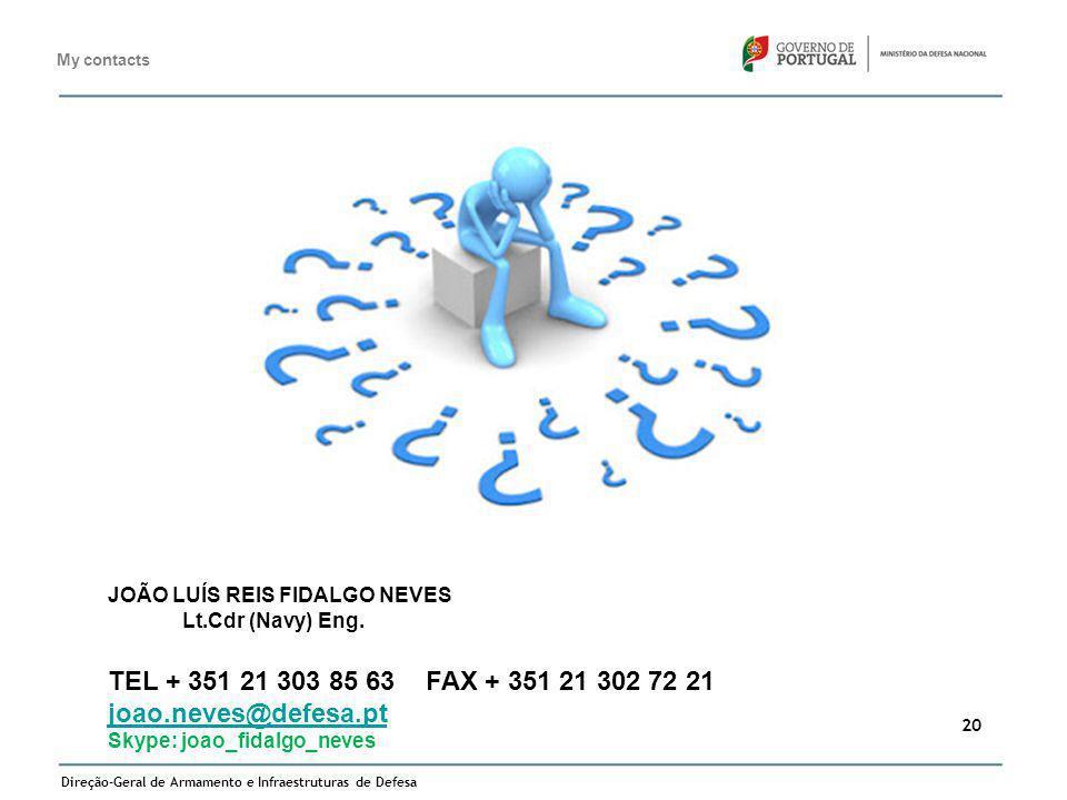 TEL + 351 21 303 85 63 FAX + 351 21 302 72 21 joao.neves@defesa.pt