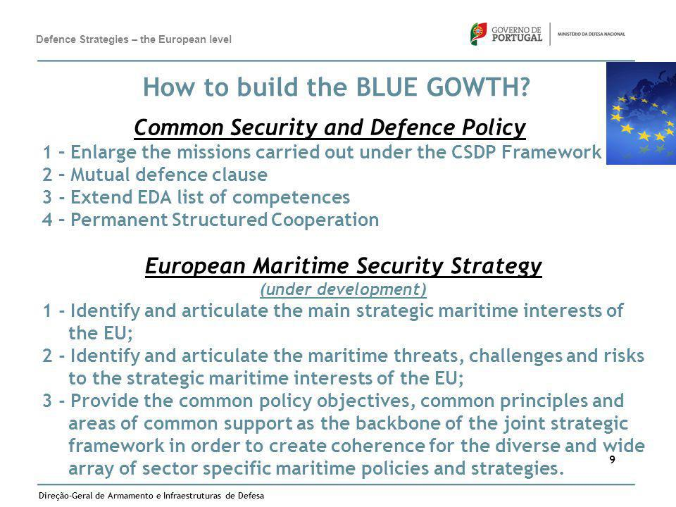 Common Security and Defence Policy European Maritime Security Strategy