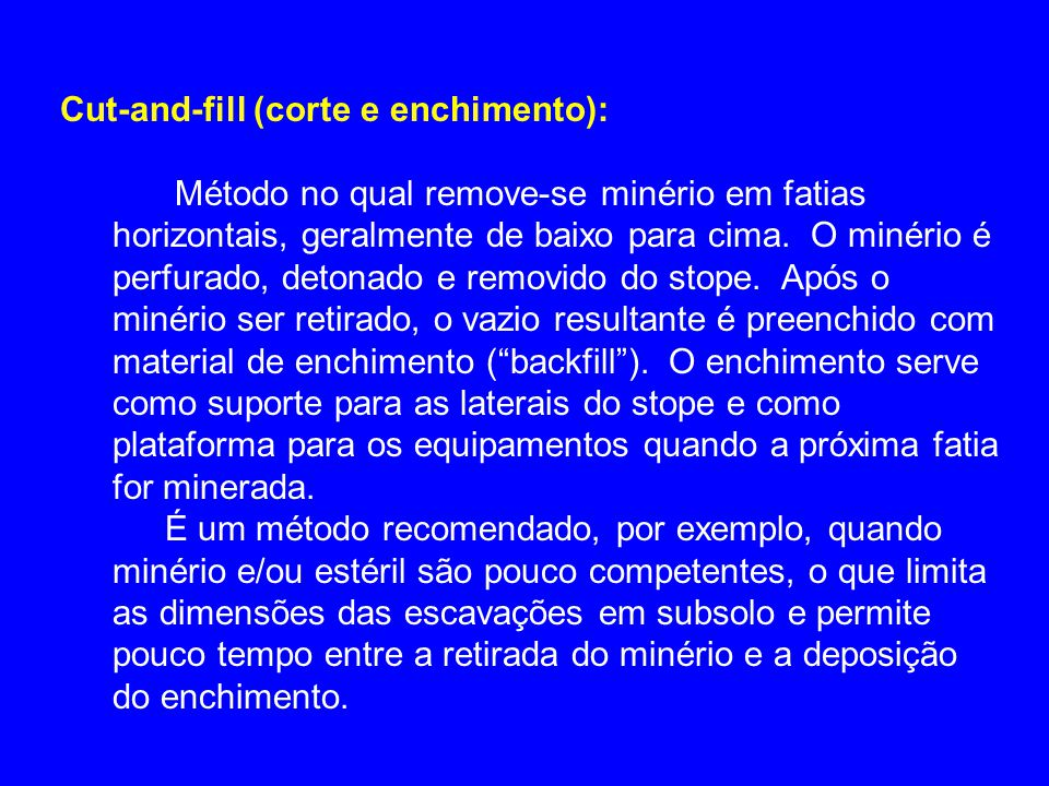 Cut-and-fill (corte e enchimento):