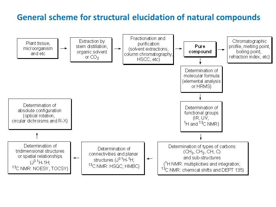 General scheme for structural elucidation of natural compounds
