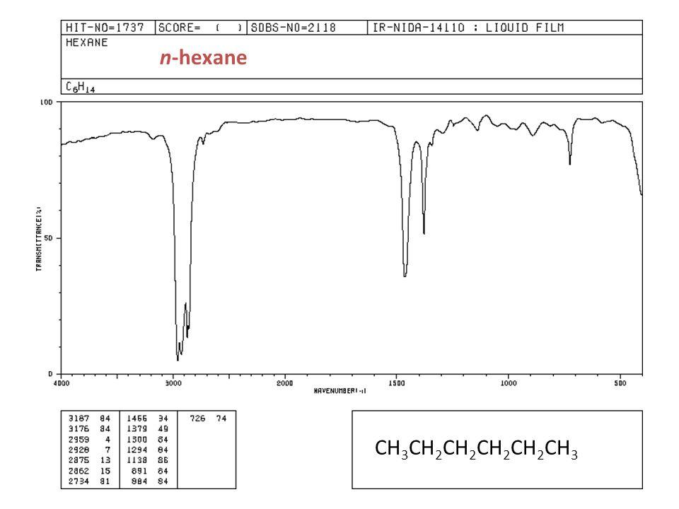 n-hexane CH3CH2CH2CH2CH2CH3