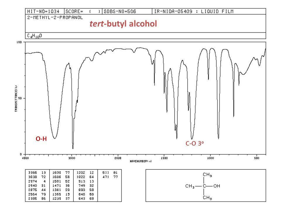 tert-butyl alcohol O-H C-O 3o
