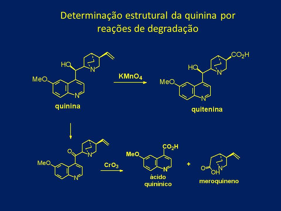 Determinação estrutural da quinina por