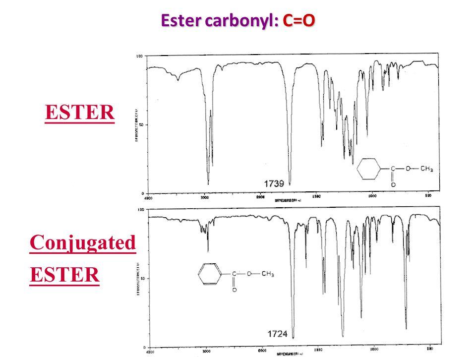 Ester carbonyl: C=O