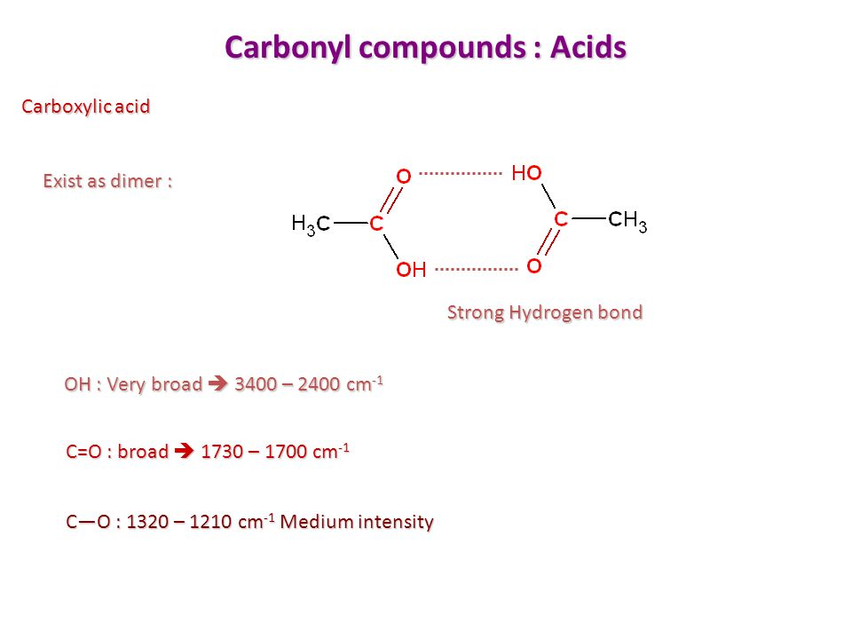 Carbonyl compounds : Acids