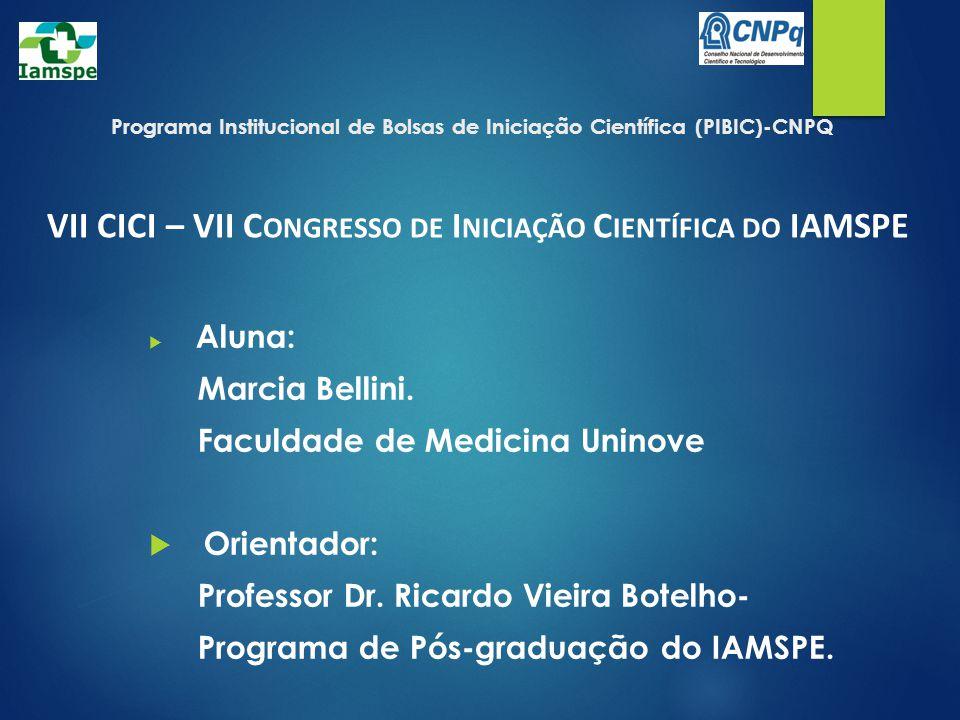 Programa Institucional de Bolsas de Iniciação Científica (PIBIC)-CNPQ