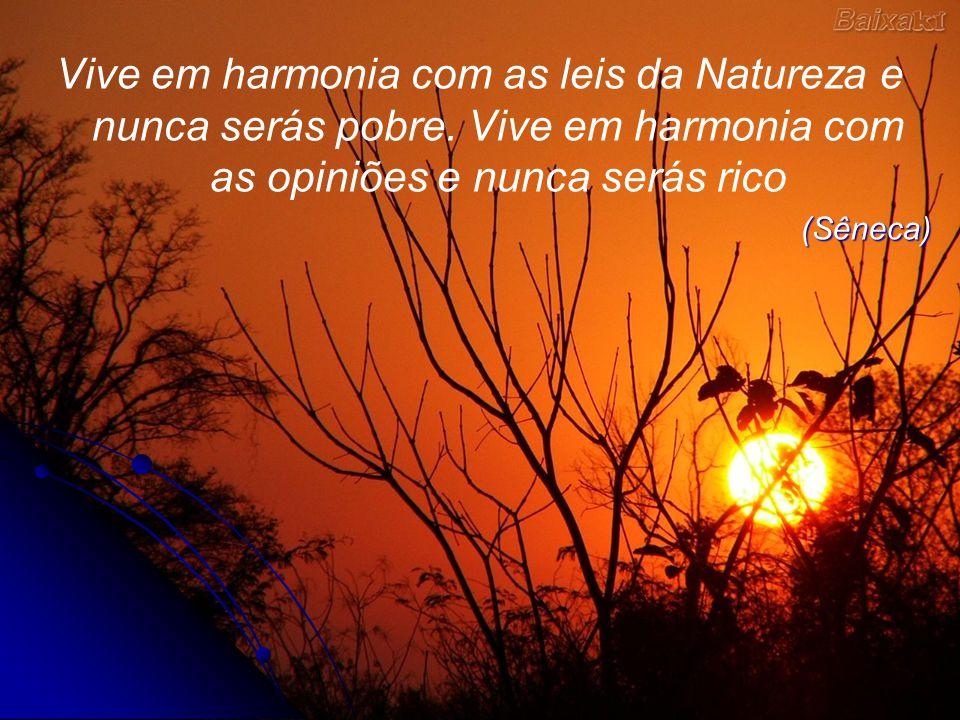 Vive em harmonia com as leis da Natureza e nunca serás pobre