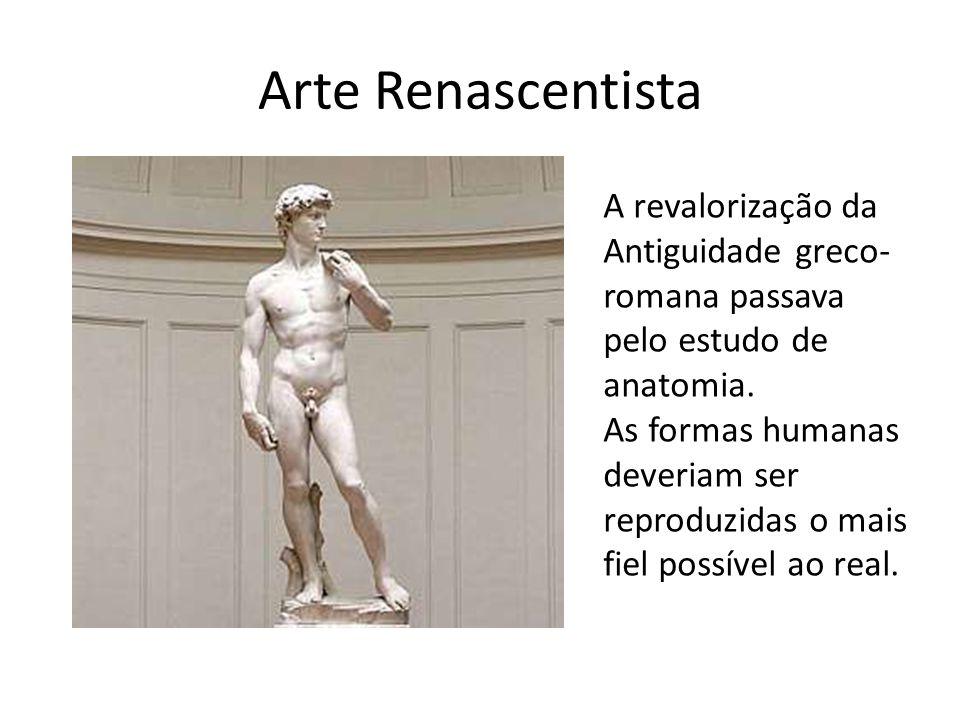 Arte Renascentista A revalorização da Antiguidade greco-romana passava pelo estudo de anatomia.