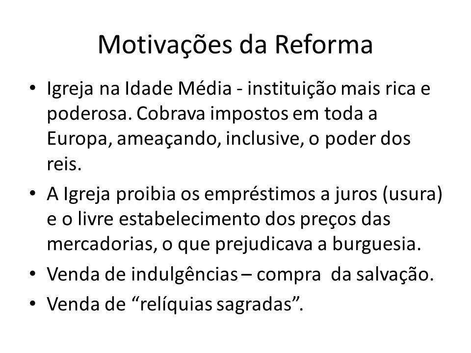 Motivações da Reforma