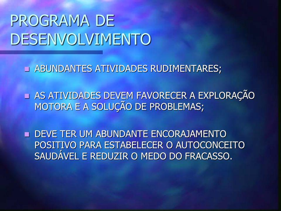 PROGRAMA DE DESENVOLVIMENTO