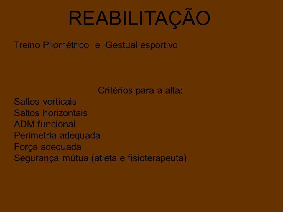REABILITAÇÃO Treino Pliométrico e Gestual esportivo