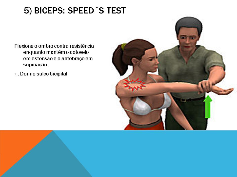 5) Biceps: Speed´s test